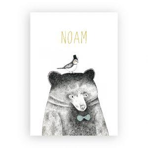 Geboortekaart Noam Fin en Stip