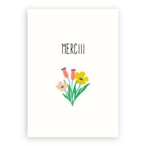 Bedank kaartje bloemen