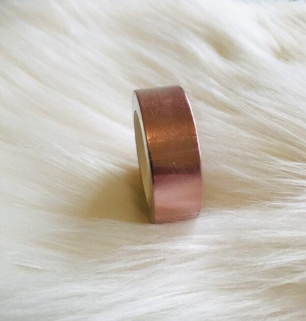 washi tape rosé koper goud